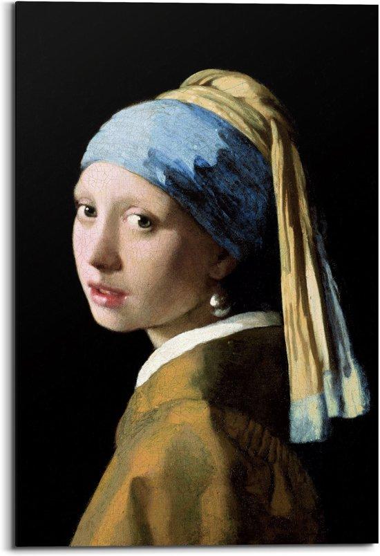 Johannes Vermeer - Meisje met de parel - schilderij 60x90cm