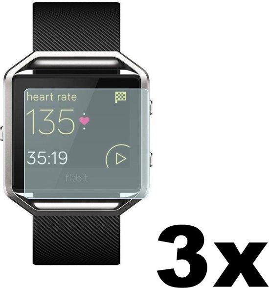 3 Stuks - Beschermfolie voor Fitbit Blaze - Matte Kleur  / Matt Doorzichtig