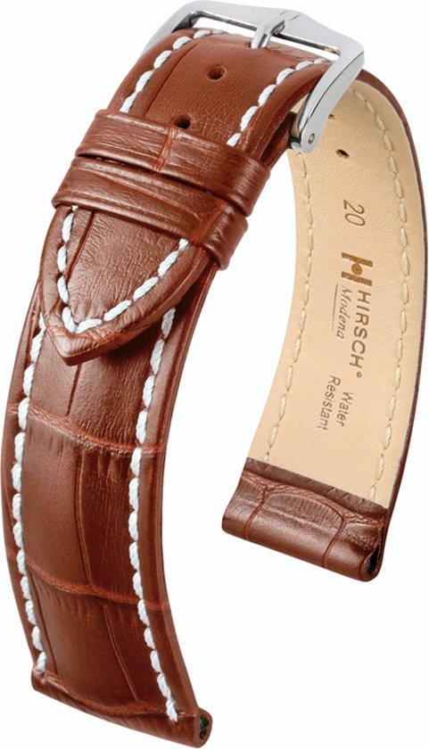 Hirsch Modena Horlogeband Cognac Goudbruin 22mm