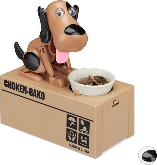 Relaxdays Spaarpot Hond Elektrisch Kinderen Vanaf 6 Jaar Spaarvarken Cadeau Deco A
