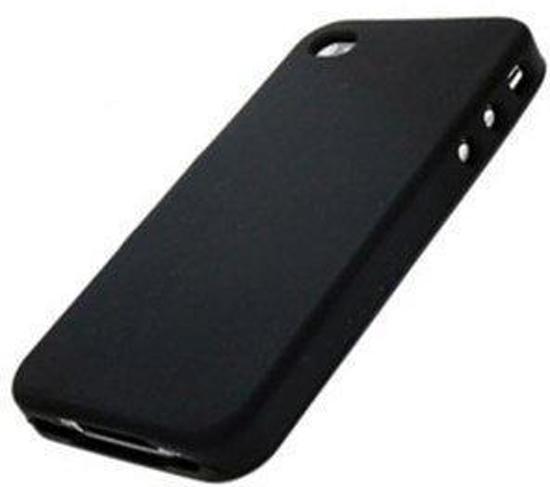 Flexibel siliconen hoesje Apple iPhone 4 / 4S - Siliconen case cover kleur zwart - Merk Westerhuis & van Andel huismerk