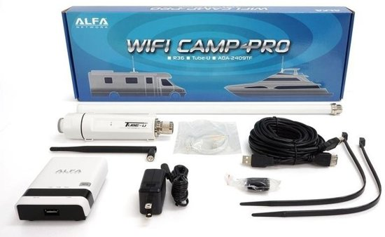 alfa network camp pro wifi set tube n antenne. Black Bedroom Furniture Sets. Home Design Ideas