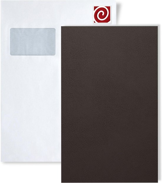 1 PROEFMONSTER S-19025 WallFace LONDON CLAY Leather Collection | Wandbekleding STAAL in ongeveer A4-formaat