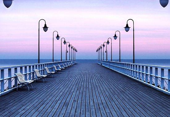 Fotobehang - Pier at the Seaside - 366 x 254 cm - Multi