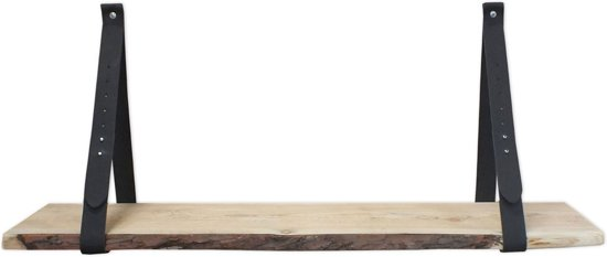 Steigerhoutpassie Plankdrager Set - Douglas schaaldeel - Zwart