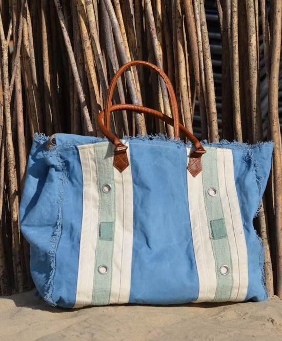 aecb6446c12 Grote dames Strandtas xl met rits Shopper Canvas Tas Strand - blauw