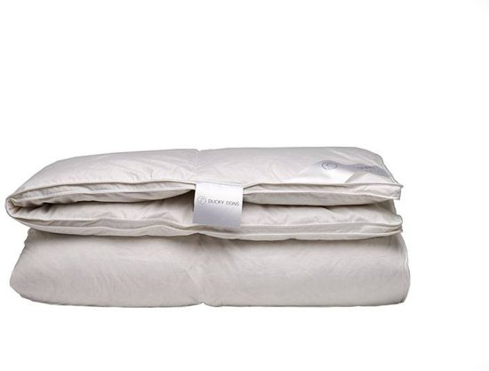iSleep Halfdons 4-Seizoenen Dekbed - 15% Dons - Litsjumeaux - 240x220 cm - Wit