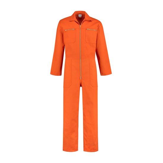 Yoworkwear Overall 100% katoen met rits oranje maat 52