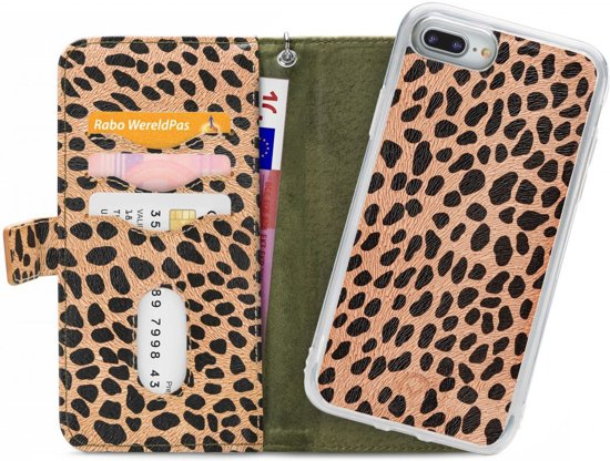 Mobilize 2in1 Gelly Wallet Zipper Case Apple iPhone 6 Plus/6S Plus/7 Plus/8 Plus Olive/Leopard