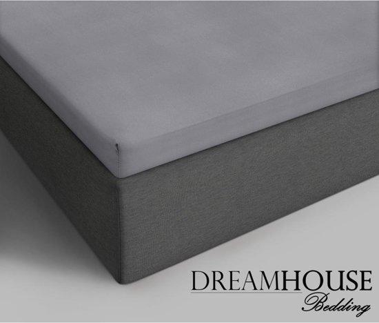 Dreamhouse Bedding - Topper Hoeslaken - Katoen - 180x220 cm - Grijs
