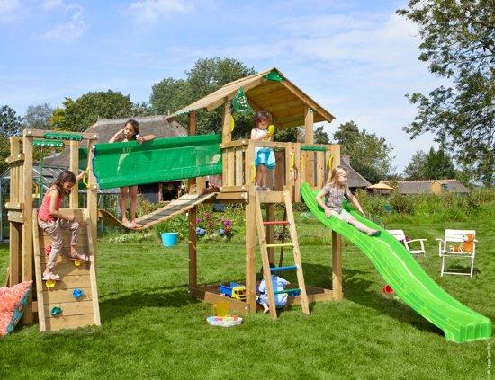 Chalet bridge houten speeltoestel voor buiten for Houten trap voor buiten