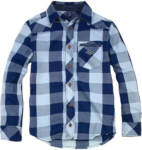 Sevenoneseven jongens hemd - blauw - Cranley - maat 164