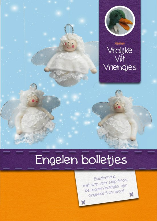 DIY wolvilt pakket: Engelen bolletjes