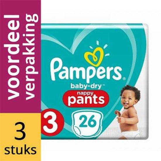 Pampers Broekjes Baby Dry Pants Maat-3 Midi 6-11kg 26-luiers (3x26)