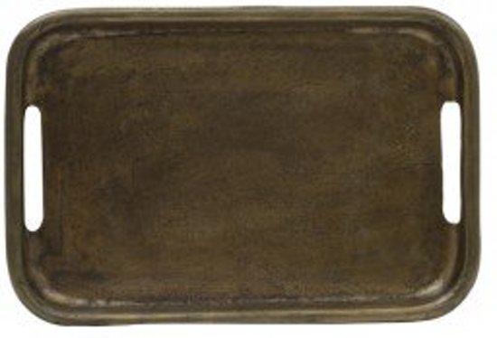 Dienblad antiek brons rechthoek metaal- 30x20cm