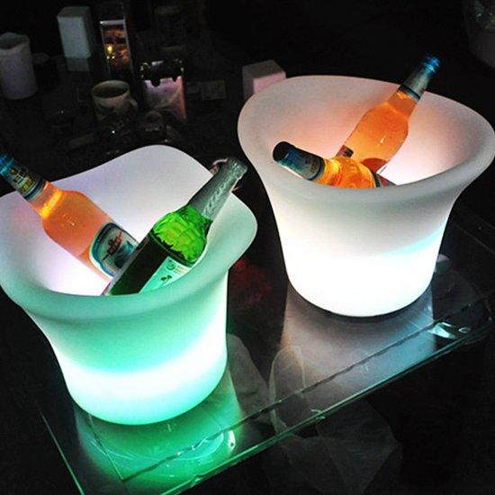 LED Wijnkoeler / IJsemmer RGB Oplaadbaar + Afstandsbediening - Funnylights Hypo