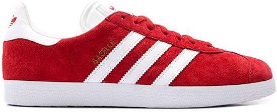 half off 5dfda 07985 Adidas Gazelle Scarlet  Footwear White  Gold Metallic