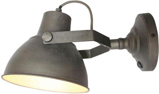 Wandlamp Met Snoer : Bol label raw xl wandlamp burned steel
