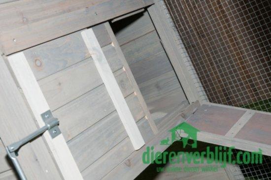 Dierenverblijf Konijnenhok ZH10 - 199x75x103 cm - Grijs