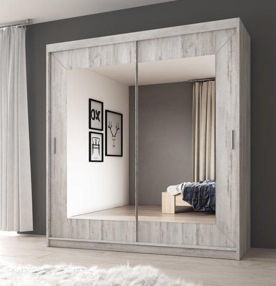 Meubella kledingkast kleerkast atlanta wit for Marktplaats spiegel