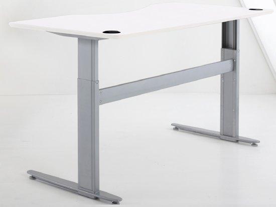 Bol.com zit sta bureau met wit laminaat blad ral9003 elektrisch