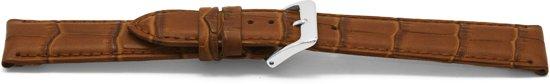 Horlogeband leder croco bruin 14mm EX-D349