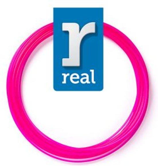 10m High-quality PETG 3D-pen Filament van Real Filament kleur doorzichtig roze