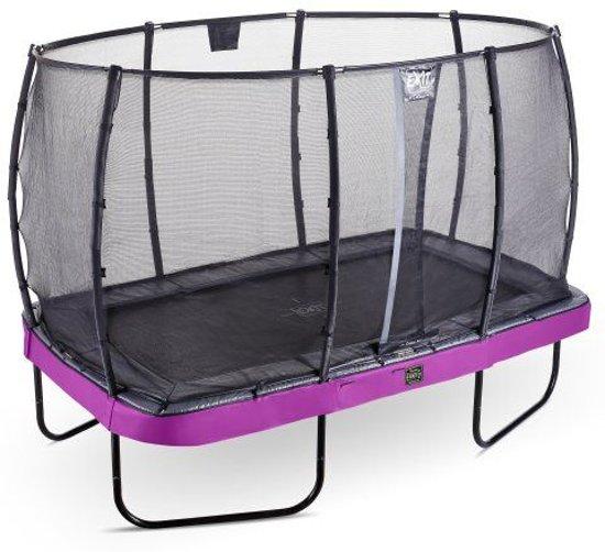 EXIT Elegant trampoline ø427cm met veiligheidsnet Deluxe - paars