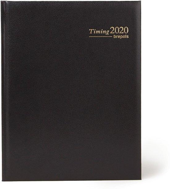 Agenda Brepols 2019 - Timing - 13 maanden - Zwart - 17,5 x 23 cm