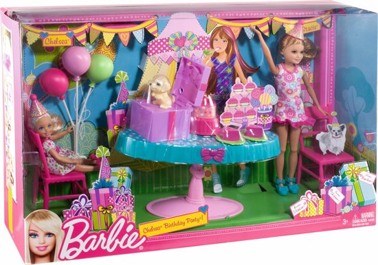 barbie chelsea verjaardagsfeest mattel speelgoed