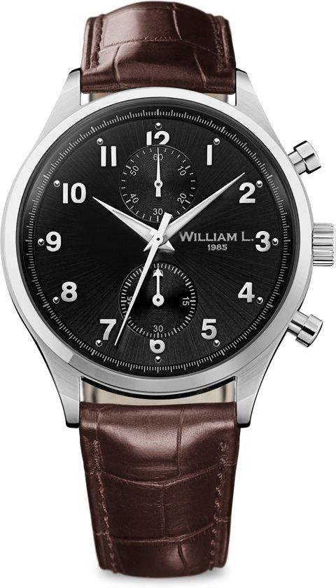 William L. 1985 WLAC02NRCM horloge heren - bruin - edelstaal