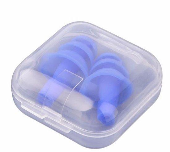 Zwemmen oordoppen Flexibel zwempluggen Blauw
