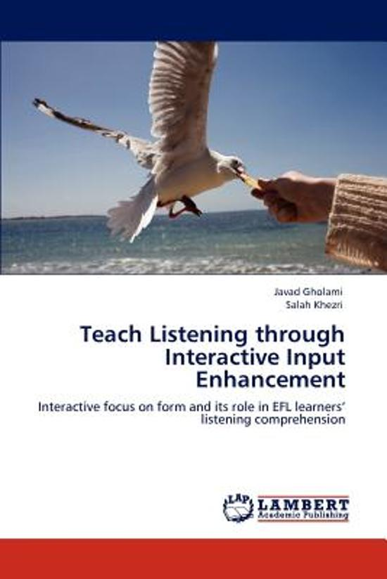 the role of input and interaction Chapter 1: understanding the role of contextualized input, output, and interaction in language learning sla research sla (second language acquisition) research.
