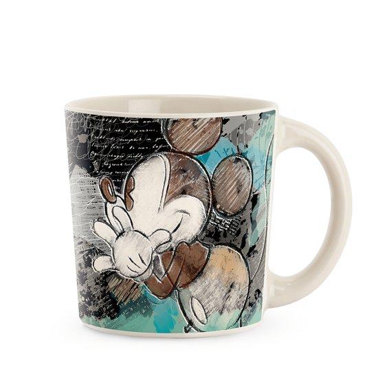 Disney Mug Mickey Color Fun Ivory Turquoise ML0
