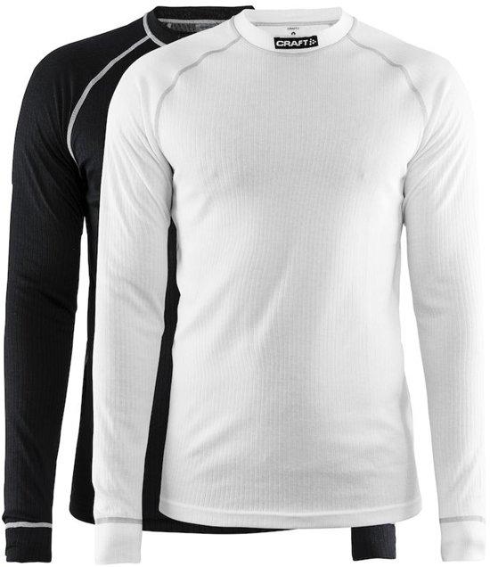 Craft Active 2-Pack Tops Thermoshirt Heren - Black/White - Maat M