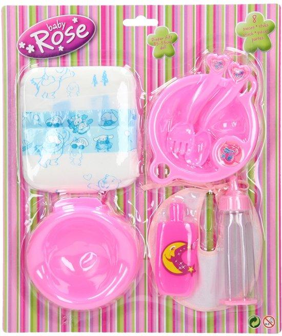 Baby Rose Poppenverzorging speelset op kaart