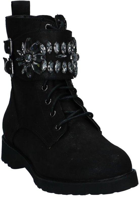 Rits Boots Zwarte Youh Met veter l1JTFcK
