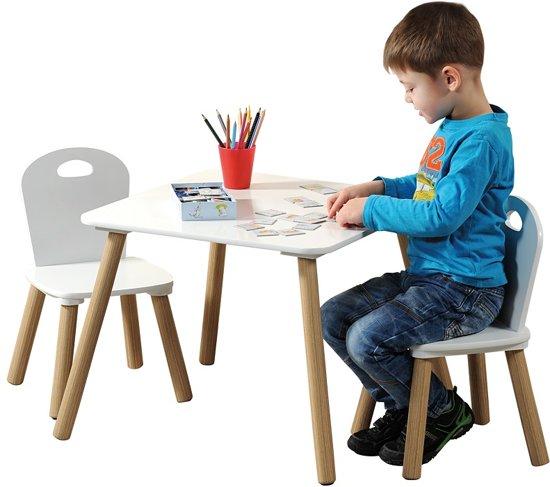 Kinderstoel En Tafel Set.Bol Com Mdf Kindertafel Set Met 2 Stoelen Fsc
