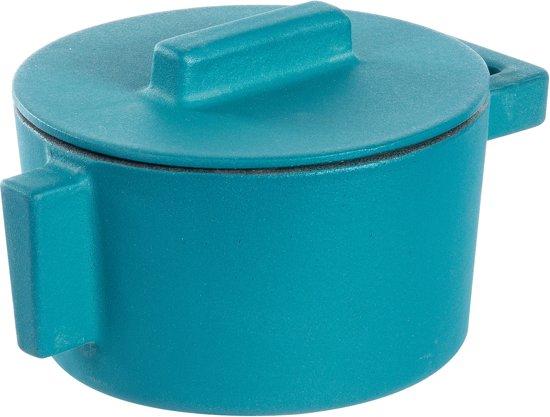 Braadpan Blauw 10 cm incl deksel - Sambonet