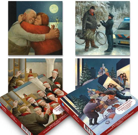 setje 2: Marius van Dokkum kerstkaartenboxje (20 krt)