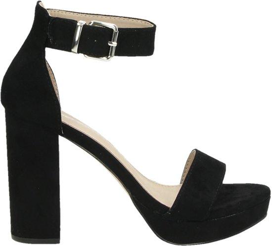 Dolcis dames sandaal op hak Zwart Maat 39