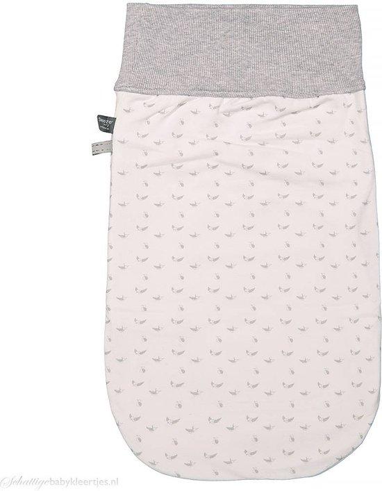 Snoozebaby - Cocoon slaapzak met mutsje light grey  -  Maat  0/3 maanden