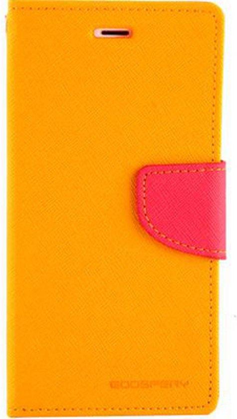 Mercury Fancy Diary Wallet Case Apple iPhone 6/6S (4.7'') - Geel/Roze in Ruitenveen