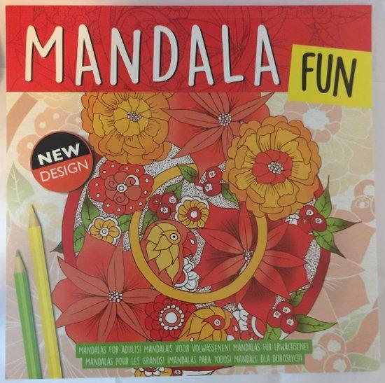 Kleurboek volwassenen / kinderen / mandala fun / new design / rood