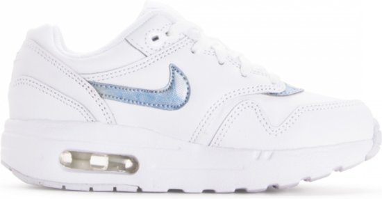| Nike Air Max 1 Kids Sneakers WitLichtblauw