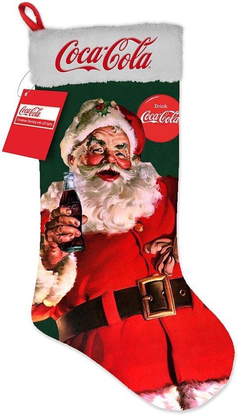 Coca Cola Statafel.Grote Lichtgevende Coca Cola Kerstsok Feestdecoratievoorwerp