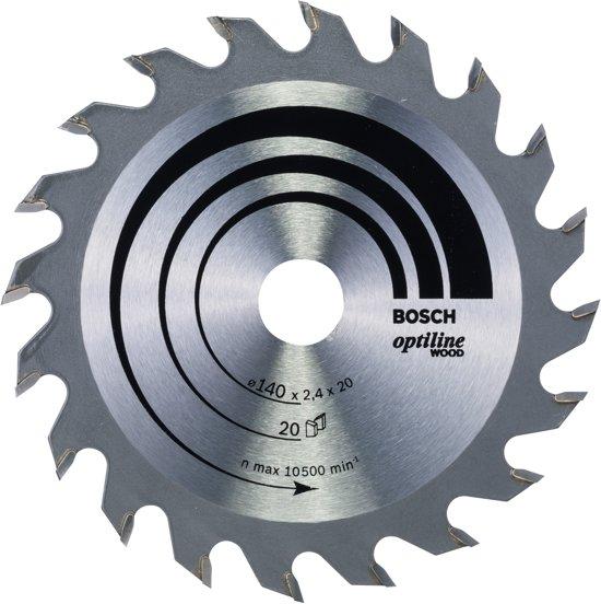 Bosch Cirkelzaagblad Optiline Wood - 140 x 20/12,7 x 2,4 mm - 20 tanden