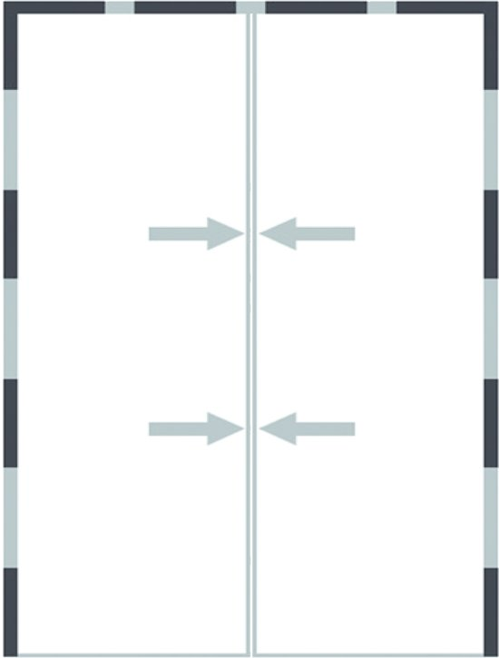 O'DADDY - Magnetische vlieggordijn - deur hor- zwart - 92x230cm