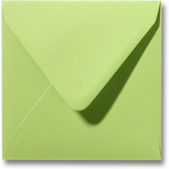 Envelop 16 x 16 Lindegroen, 25 stuks
