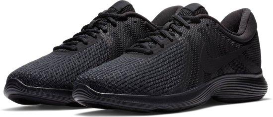 Nike Revolution 4 Eu Heren Sportschoenen - Zwart/Zwart - Maat 44.5